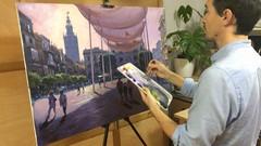Imágen de Curso de Pintura al acrílico-óleo: Un Paisaje Urbano