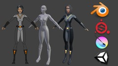 Learn to use Blender, Substance Painter, Krita, and Unity to create your own game characters.