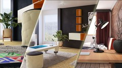Make Photorealistic Interiors using 3ds Max, Vray, Marvelous Designer & Photoshop with 2 projects!