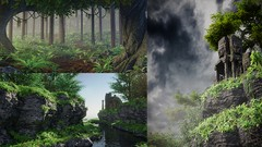 Discover a complete workflow to create three realistic nature scenes, learn to build assets from …