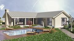 3D's Max- Vray Villa Dış mekan modelleme