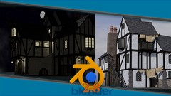 Blender 2.8 3D modelling a medieval building scene with tips to go from novice to Blender expert in …
