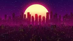 Learn how to make a stylish retro city loop animation in Cinema 4D and After Effects