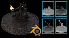 Learn to Model Texture Animate and Simulate a Complete Medieval Catapult 3D Model From Start to …