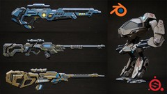 Discover a complete workflow for creating Sci-fi assets for video games or animation.