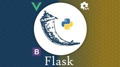 Imágen de Flask con Python 3 + integración con Vue y Bootstrap 4 y 5