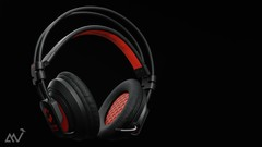 Model , texture , light and render a realistic gaming headset using only blender 2.8