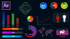 Learn How to Create Amazing Motion Graphic and Infographics in After effects A-Z (10 Project)