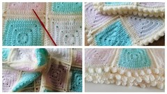 Learn to crochet a baby blanket from start to finish