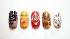 5 Desain Bunga Nail Art