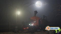 Blender 2.9 3D Model & Render a Stylized Halloween Scene - UdemyFreebies.com