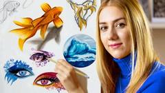 Masterclass: Drawing, Design & Creativity with Color Pencil - UdemyFreebies.com