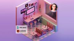 Render an Isometric Retro Diner - UdemyFreebies.com