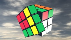 3D modeling of Rubik's Cube, using UV maps from a single texture image and creating a animation …