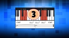Learn Piano chords:  Major chords, Diminished chords, Minor chords - Play jazzy half step chromatic …