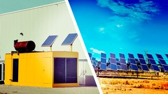 Learn to plan off grid power systems combining solar electric and diesel generators