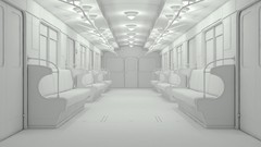 First part of tutorial series about modeling and lighting subway train interior
