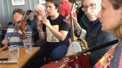 I'll show you the basics (for joining sessions) on shaker, rhythm bones, spoons, bodhran, jews harp …