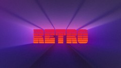 Create an editable retro title in After Effects. Animate it, then use it as GIF what you can share …