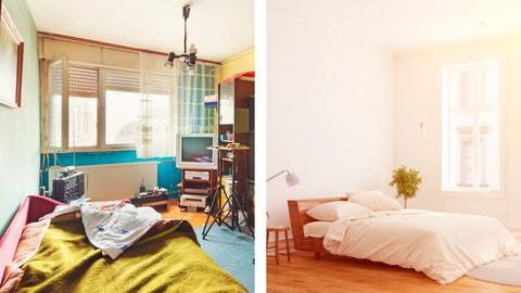 Declutter your bedroom (de-clutter, decluttering)