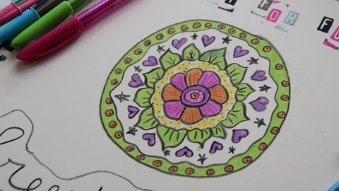 Netcurso-freestyle-mandalas-to-find-your-inner-child-and-relax