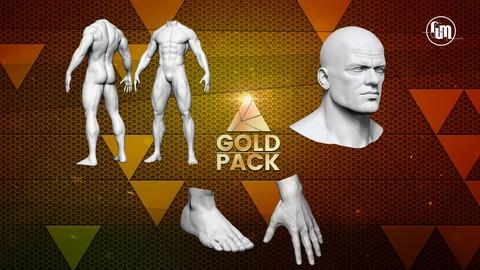 Creación de personajes con Zbrush- Gold pack (Vol. 1, 2 y 3)