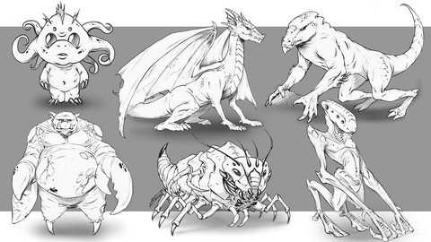 How to Improve Your Creature Design Drawings - Step by Step
