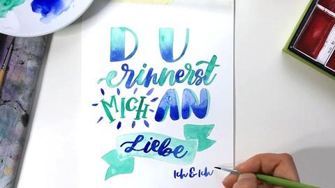 Netcurso-watercolor-lettering
