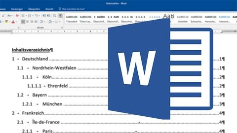 Free Microsoft Word Tutorial - Wissenschaftliche Arbeit formatieren in WORD - GRATIS Kurs