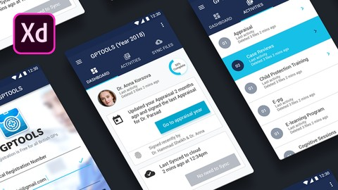 Android App UI Design with Adobe XD & Google Material Design