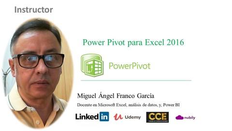 Power Pivot para Excel 2016.