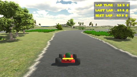 Self-driving go-kart with Unity-ML