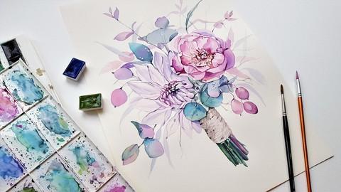 Nail art.Farbki akwarelowe 1 stopnia