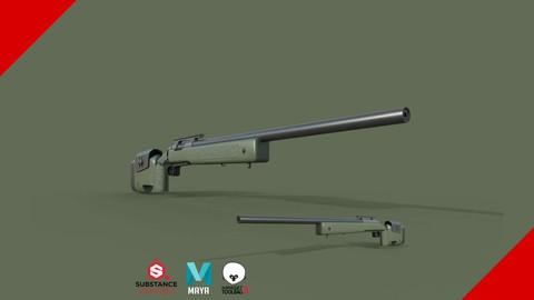 Substance Painter Sniper - Texturização para games AAA