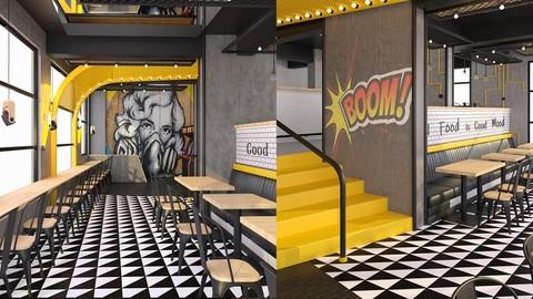 Interior Design Tutorial - Interior Design Process of a Cafe/Restaurant