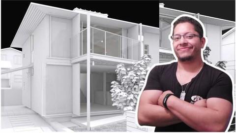 3Ds Max + Vray: Profesional en ArchViz - Hybrid Wooden House