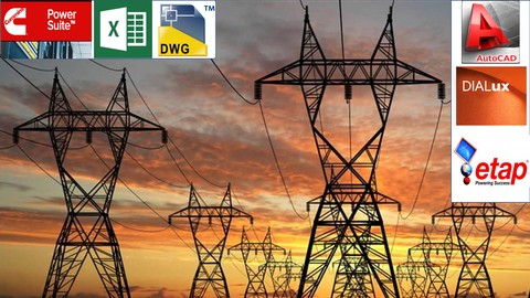 Electrical distribution L.V Design AutoCAD, Dialux and ETAP