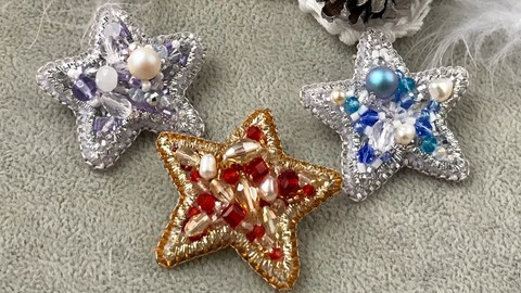 Netcurso-jewelry-making-embroidered-brooch-christmas-diy-gift