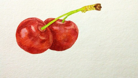 Watercolor Layering for Beginners: Painting cherry tutorial