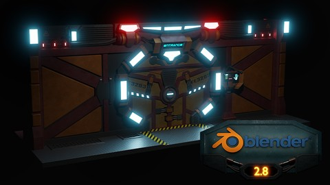 Blender 2.8 3D Model a Sci-fi Scene with Eevee Coupon