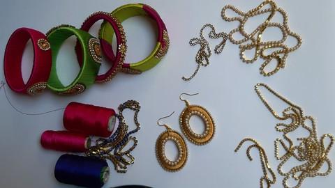 Netcurso-silk-thread-bangles-and-earrings-course