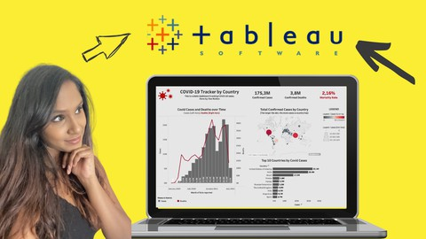 Tableau Crash Course 2021: Build & Share COVID19 Dashboards Coupon