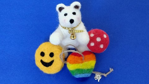 Netcurso-learn-how-to-make-easy-and-cute-needle-felted-gifts