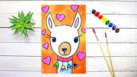 Art for Beginners: Drawing & Watercolor Painting for FUN
