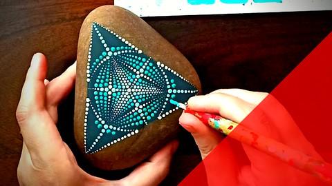 Mandala stone art–Learn how to create geometric dot art