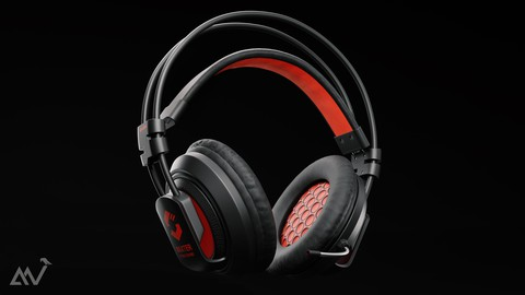 Headphone Model Created in Blender