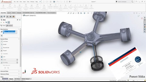 Solidworks : Certified Associate (CSWA) & Part Modelling