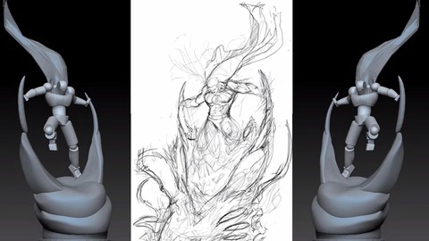 Character Base Mesh Sculpting in zbrush