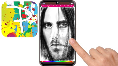Netcurso-a-portrait-drawing-on-a-p30-phone-using-the-paintology-app