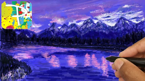 Netcurso-being-creative-with-a-landscape-drawing-using-paintology